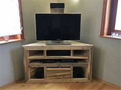 We just couldn't imagine a better wood pallet creation that was more useful inside a room interior. Like all of us need these wooden media cabinets in our homes as this not only protects the expensive device but also equally complement our room interior as well.