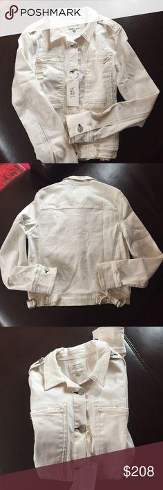 McGuire distressed denim jacket Cotton spandex blend super chic fitted jacket McGuire Jackets & Coats Jean Jackets