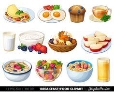 Breakfast Clipart Food clipart Dessert clipart Food clip art