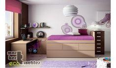 Dormitoiro juvenil con cama compacta alta Mia 10