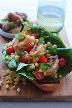 Summer Creole Shrimp Rolls