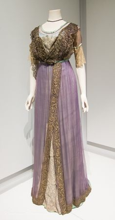 Evening Dress -  c. 1910-12 Lady Lever Gallery, Port Sunlight, UK