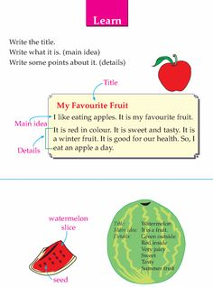 Writing skill - grade 1 - descriptive - my favorite fruit (3)