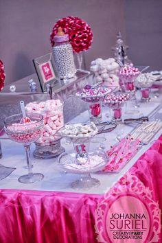 Beautiful Candy Buffet   Pearls U0026 Diamonds Baby Shower