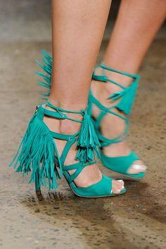 Spring '16 Blue Tassel Heels
