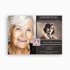 Runde Geburtstage   Nostalgie 1800 · 65 GeburtstagFreudeEinladungskarten90.