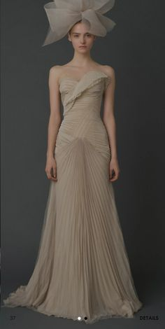 This wedding dress is versatile enough to be worn as a formal gown to a Black Tie event. From the Vera Wang Fall 2011 Bridal Collection.