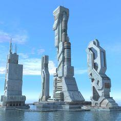 3ds max sci fi futuristic city - Sci Fi City Futuristic Cityscape... by 3D_Multimedia