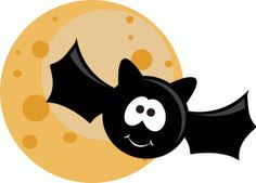 View Design #46018: ppbn designs cute halloween bat and moon