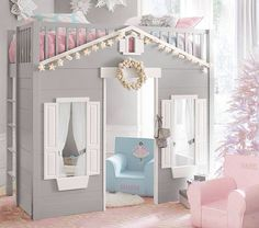 Cozy little room with seating area for kiddos so cute