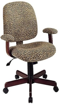 My leopard office chair