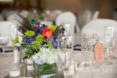 #Blue #wedding flowers