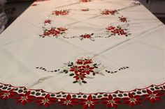 beautiful christmas tablecloths | oh my goodness they had such beautiful christmas tablecloths also