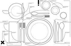 Kniggerich Placemats Teach Table Etiquette