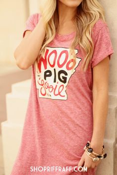 ShopRiffraffs BIGGEST collection to date! The Ultimate Throwback Tailgate Gameday Apparel Collection! Hard To Be Humble, Woo Pig Sooie, Summertime Madness, Football Baby, This Little Piggy, Arkansas Razorbacks, Dress Me Up, T Shirts For Women, My Style