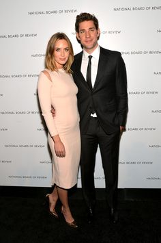 Emily Blunt and John Krasinski at the National Board of Review Awards Gala.- this is the new Carrie Bradshaw Naked Dress