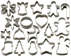 StarPack Christmas Cookie Cutters Set (18 Piece) - Favorite Holiday Shapes including Gingerbread Man, Star and Snowflake - Bonus 101 Cooking Tips ** Check out this great image @ : Baking Accessories