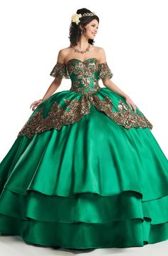 Mary's Quinceanera Dresses - MQ3030 Sequin Embroidered Tiered Ballgown Sweet 15 Dresses, Pretty Quinceanera Dresses, Ball Gown Dresses, Pageant Dresses, Dress Prom, Dress Long, Quince Dresses, Perfect Prom Dress, Prom Dresses Online