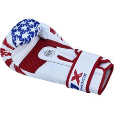 RDX boxing training gloves are made specifically for US launch to add an American touch to your boxing experience. The gloves come with Tri-slab™ Shall-Shock™ Gel integrated padding for improved shock absorption