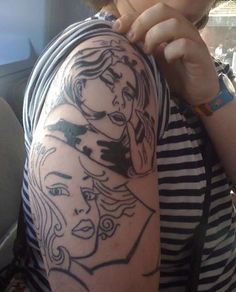 Roy Lichtenstein Drowning Girl tattoo (cover up?)    Google Image Result for http://www.ratemyink.com/images/ul/113/Lichenstein-s-Drowning-Girl-Pop-Art-tattoo-tattoo-113278.jpeg