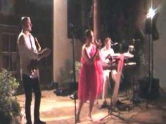 Vicky Madera Trío  Concierto que ofreció este trío formado por Vicky Madera a la voz, Ernesto Beigveder a los teclados y Roberto Cantero al saxo, en El Museo del Vidrio y Cristal de Málaga