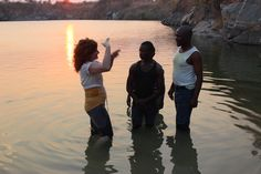I live/breathe for such moments. Got to join in 8 baptisms of incredible deaf people in a rural village in Zambia!