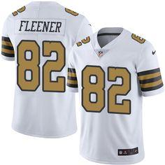 Youth Nike New Orleans Saints  82 Coby Fleener Limited White Rush NFL Jersey  Michael Bennett bd6c76855
