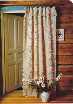 Vintage Crochet Pattern for a Superb Aran Style Door Curtain,Curtains,Bedspread or Cushions Pillows A PDF for Immediate Digital Delivery Crochet Curtain Pattern, Crochet Bedspread, Crochet Curtains, Curtain Patterns, No Sew Curtains, Rod Pocket Curtains, Door Curtains, Valance, Door Draught Excluder