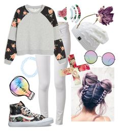 """""""🌸floral🌸"""" by xxonyx-lightwaterxx ❤ liked on Polyvore featuring Hot Topic, rag & bone, Monki, Sunday Somewhere, Vans and INDIE HAIR"""