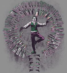 Find images and videos about batman, jared leto and joker on We Heart It - the app to get lost in what you love. Der Joker, Joker Art, Joker Batman, Batman Art, Batman Painting, Super Hero Shirts, Joker Pics, Batman Poster, Joker Wallpapers