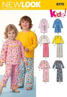 49bba914da NL6170 Toddlers    Child s Pyjamas. Pajama PatternKids PatternsEasy Sewing  ...