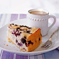 How perfect would this Blueberry Coffee Cake be with a cup of green tea? | health.com