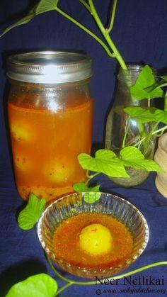 Sailaja Kitchen...A site for all food lovers!: Neer Nellikai Recipe / Gooseberry Pickle Recipe / Amla Pickle