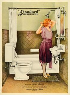 """""""In a room five feet square"""" - Slumberland.org. A blog post sparked by the image here, which I bought to put on my bathroom wall. Turns out there are a bunch of similar images in 1920s Standard advertising."""