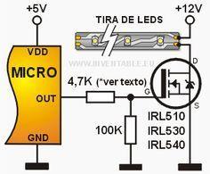 Como conectar un mosfet de potencia a un microcontrolador   Inventable
