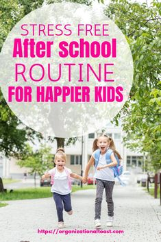 This after school routine is sure to make your kids happier. No more after school meltdowns and plenty of time for the kids to unwind and still get all the things done. #routinesforkids #parentinghacks #afterschoolroutineforkids #afterschoolroutinetips