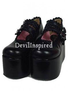 Black Lolita Platform shoes