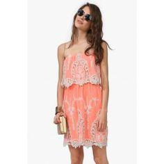 Neon Crochet Dress