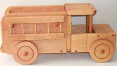Wooden riding trucks: wooden toy firetruck