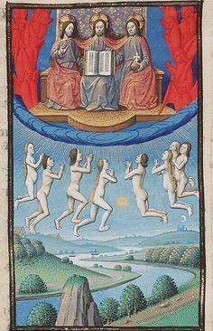 Maître François (actif à Paris entre c.1460 et c.1480), L'ascension des âmes, c.1475-80.