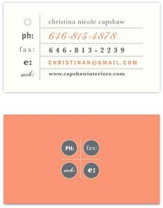 Quotes Queen                                              • 22 weeks ago                                                                                                   Nice coral business card design