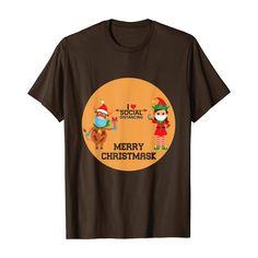 Funny Christmas 2020 I Love Social Distancing Gift T-Shirt #Christmas #Christmasshirt