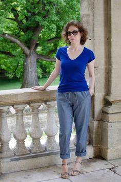 Burda Drawstring Travel Pants by Sara #sewing #pants