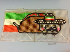 Taco Nyan Cat perler beads by artsy_husky