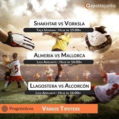 Taça da Ucrânia e Liga Adelante espanhola animam o domingo das apostas e futebol. Confere os prognósticos:  http://www.apostaganha.com/2016/03/27/prognostico-apostas-shakhtar-donetsk-vs-vorksla-poltava-taca-ucrania-84684/  http://www.apostaganha.com/2016/03/27/prognostico-apostas-almeria-vs-mallorca-liga-adelante-74693/  http://www.apostaganha.com/2016/03/27/prognostico-apostas-llagostera-vs-alcorcon-liga-adelante-74685/  Quer 100 euros de bonus, streams dos maiores eventos e uma casa com…
