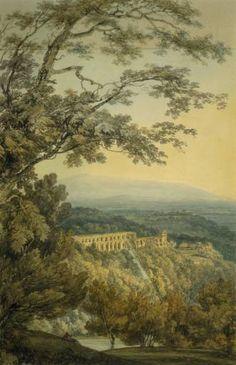 Joseph Mallord William Turner 'Tivoli, Villa of Maecenas, after John Robert Cozens', ?c.1794–7 © Courtesy of the Huntington Library, Art Collections, and Botanical Gardens, San Marino, California