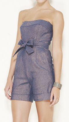 Peter Soronen Indigo And Copper Romper. I have one just like this but not nearly as chic, lol.