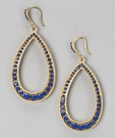 Take a look at this Blue & Gold Montana Teardrop Earrings by Marlyn Schiff on #zulily today!