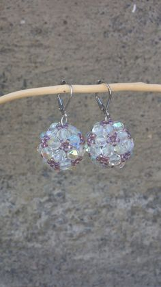 Beaded ball earrings