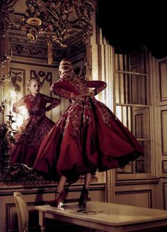Jessica Stam in Vogue UK October 2007 by Corinne Day